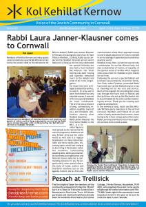 Kol Kehillat Kernow Issue 43 Cover