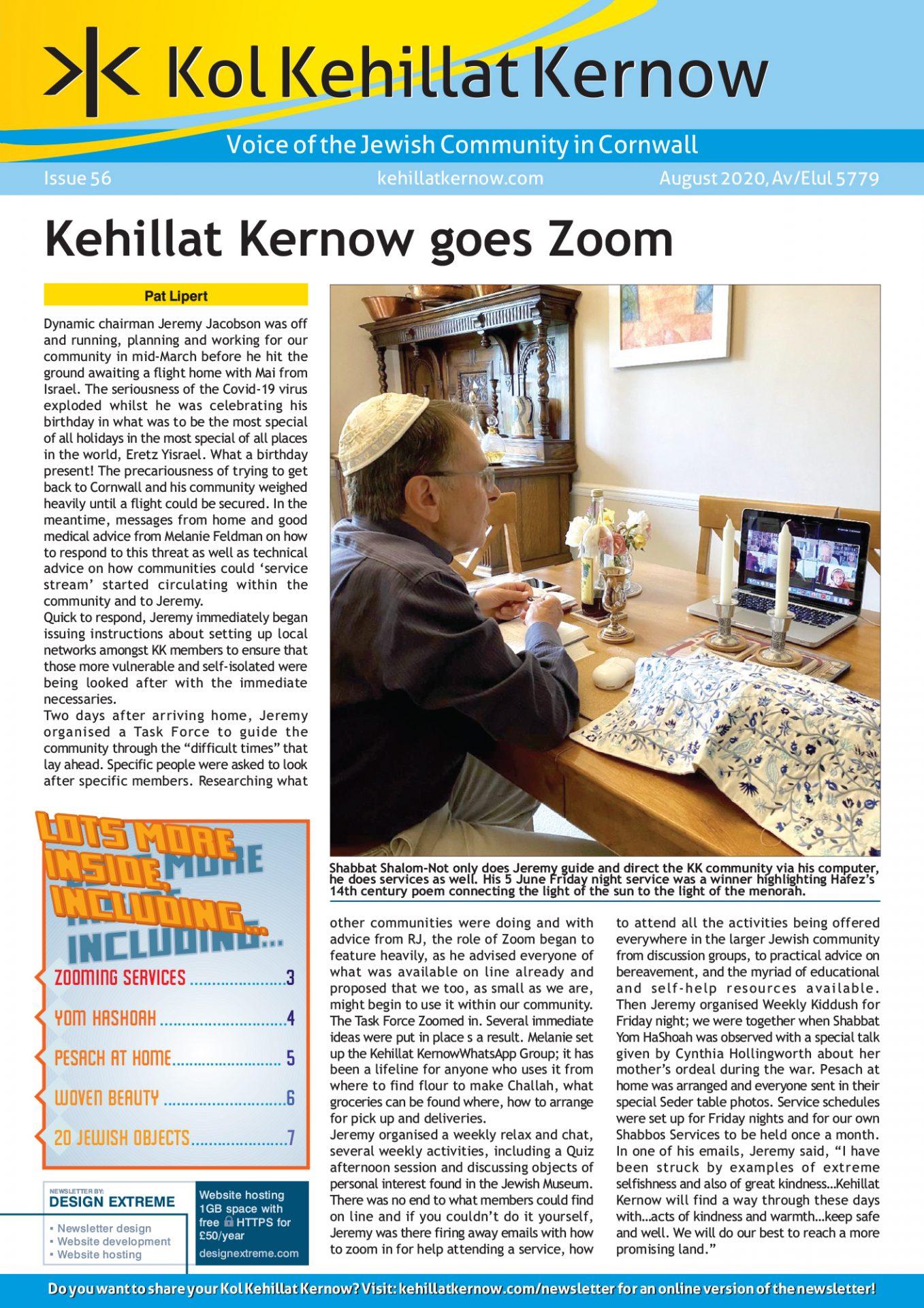 Kol Kehillat Kernow - 56 - August 2020
